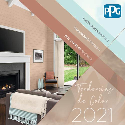 Paleta de colores de pintura del año 2021